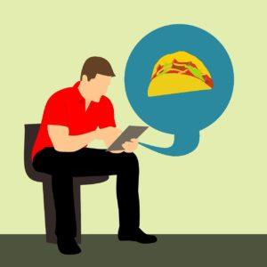 הזמנת אוכל באינטרנט